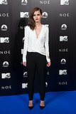 Emma Watson in J. Mendel Jumpsuit at 2014 Noah Madrid Premiere