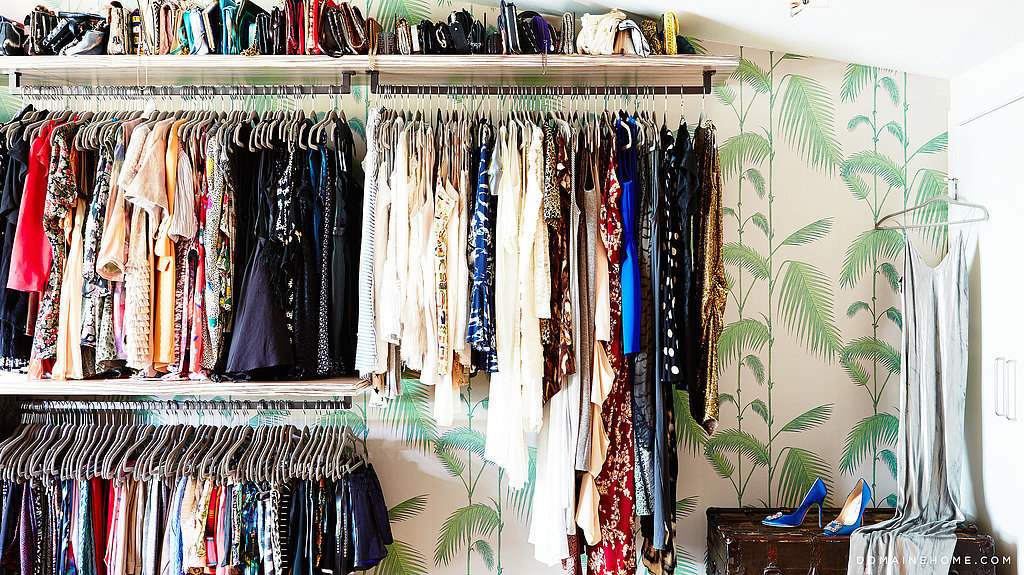 Take a cue from Whitney Port's closet and decorate your space with jungle wallpaper. It gives off a certain cool-meets-cute vibe!   Source: Justin Coit for Domaine Home