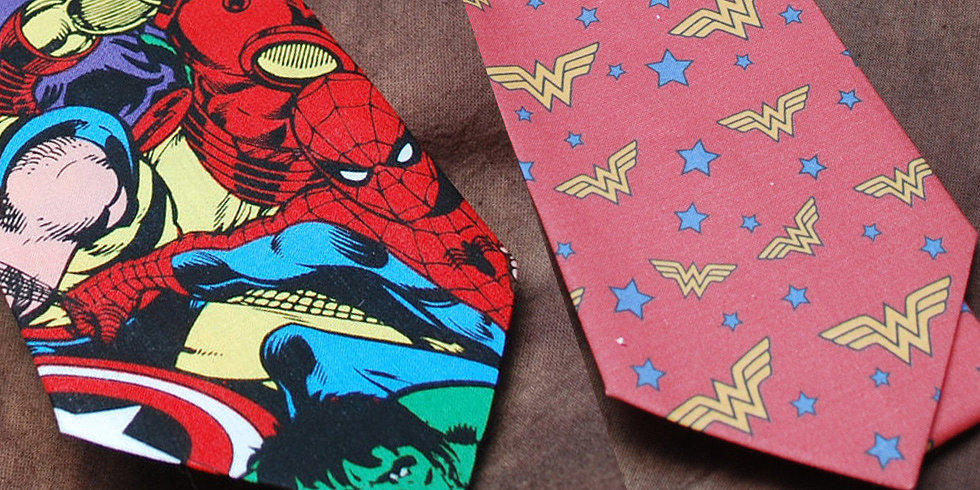 Lionhearted Ties Worthy of a Superhero Groom