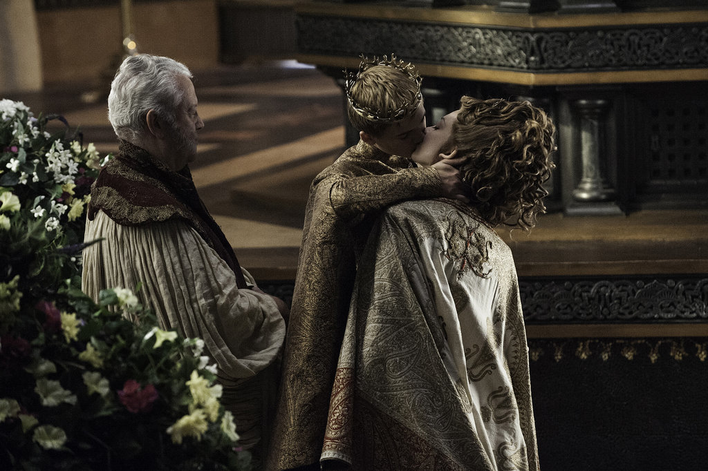 "Joffrey really goes for it. Might as well when ""till death do you part"" comes sooner rather than later!"