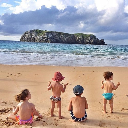 Vivian and Ben Brady took in the beautiful water view — and baby turtles — with their friends. Source: Instagram user giseleofficial