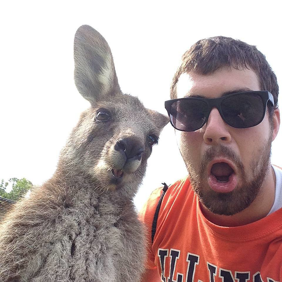 """Friend sent me this selfie from Australia."" Source: Reddit us"
