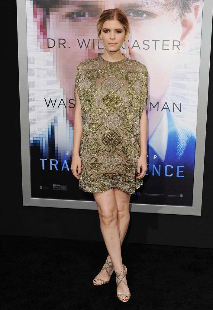 Kate Mara in Valentino at the LA premiere of Transcendence.
