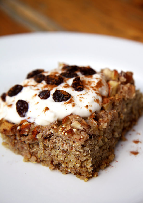 Apple-Cinnamon Quinoa Breakfast Bake