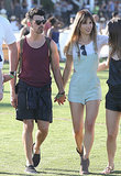 Joe Jonas and Blanda Eggensschwiler held hands.
