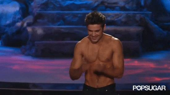 When Zac Efron Blew Us Shirtless Kisses