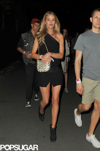 Rosie Huntington-Whiteley revealed her long stems.