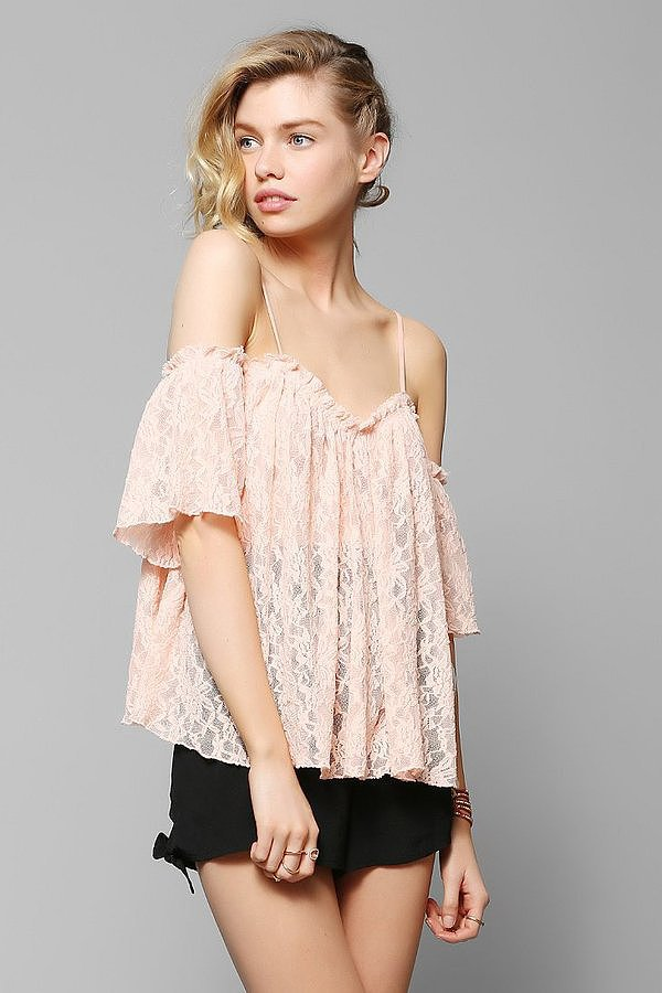 Kimchi Blue Lace Off-the-Shoulder Top