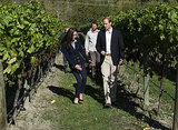 On April 13, Kate accidentally stumbled in her wedges while walking around the Amisfield Winery in Queenstown, New Zealand.