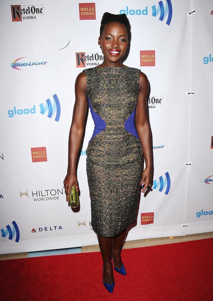 Lupita Nyong'o attended the GLAAD Media Awards in Beverly Hills on Saturday.