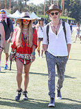 Austin Butler and Vanessa Hudgens matched with their hats.