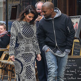 Kim Kardashian and Kanye West Holding Hands in Paris