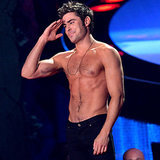 Zac Efron Shirtless at the MTV Movie Awards 2014