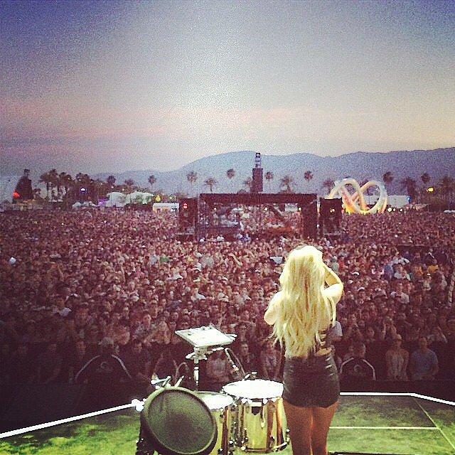 Ellie Goulding performed to a massive crowd. Source: Instagram user elliegoulding