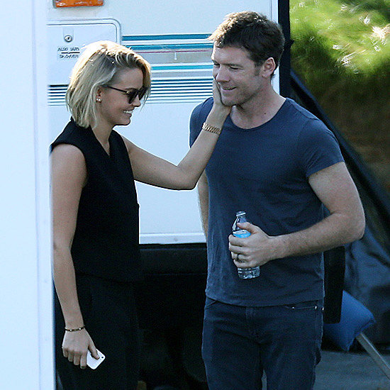 Lara Bingle and Sam Worthington Holding Hands in LA