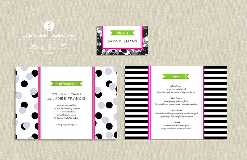 Preppy and Mod Wedding Invitation