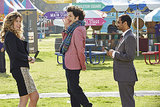 Mo Collins and Ben Schwartz show up as Joan Callomezzo and Jean-Ralphio, alongside Aziz Ansari as Tom.