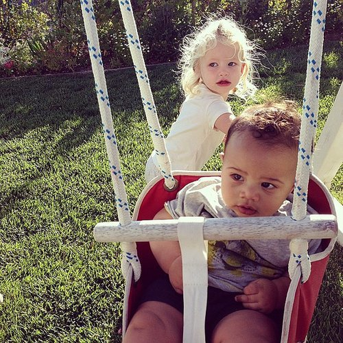 Maxwell Simpson and Rocco Faison enjoyed an outdoor playdate.  Source: Instagram user caceecobb