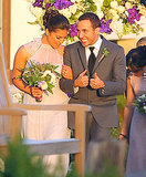 Backstreet Boys member Howie Dorough showed up for Nick Carter's April 2014 wedding in Santa Barbara.