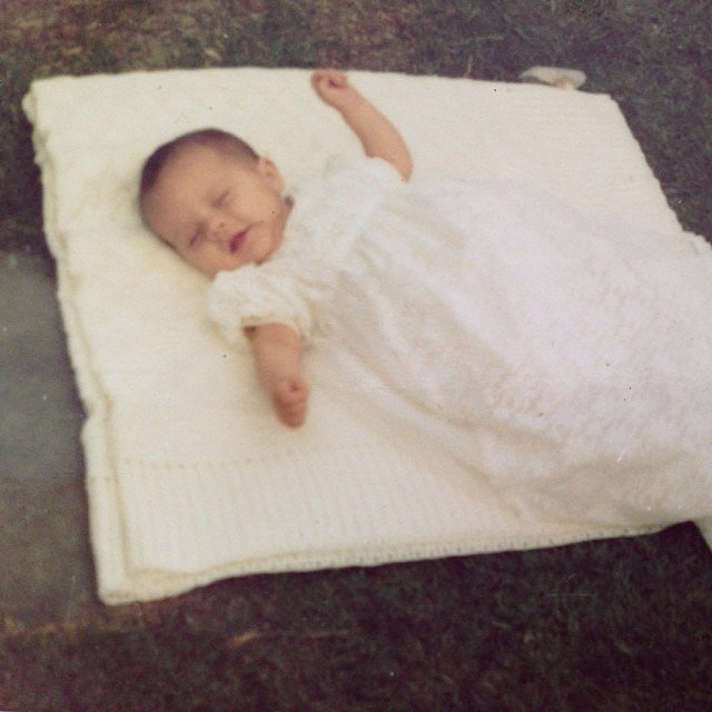 Look at baby Victoria! Source: Instagram user victoriabeckham