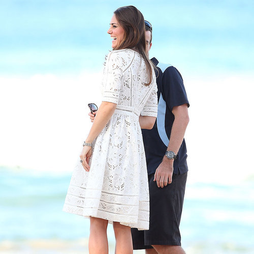 Kate Middleton Wearing White Zimmermann Dress