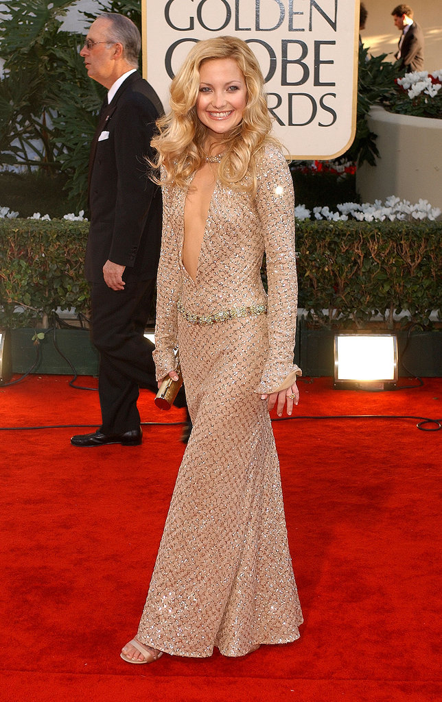 Kate Hudson in Plunging Atelier Versace at 2002 Golden Globes