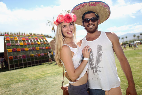 It was all about the toppers for these two at Coachella.