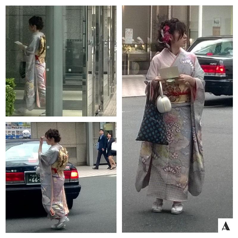 Street Style Shinagawa Tokyo Japan Geisha Traditional Dress Prince Hotel