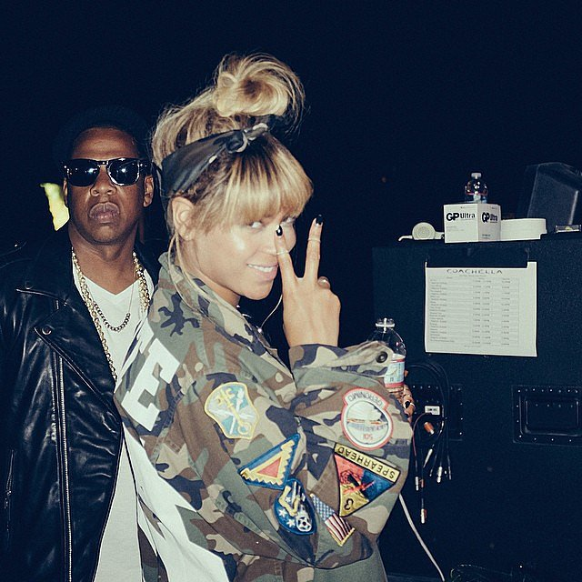 Beyoncé and Jay Z were the coolest people at Coachella. Source: Instagram user beyonce