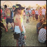 Sarah Hyland wore neon at the festival. Source: Instagram user therealsarahhyland