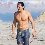 Orlando Bloom Shirtless in Santa Barbara