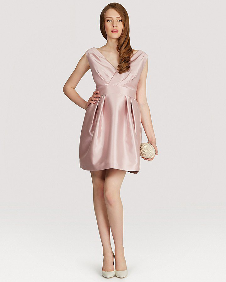 Coast pink satin Riley dress ($260)
