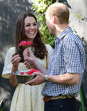 And when Prince William presented Kate with a flower.