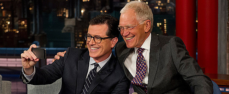 "Stephen Colbert Tells Letterman He's Happy They Hired ""a Boob"" Like Him"