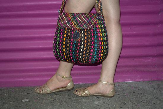 bolso tejido y sandalias cangrejeras #JfashionBlog