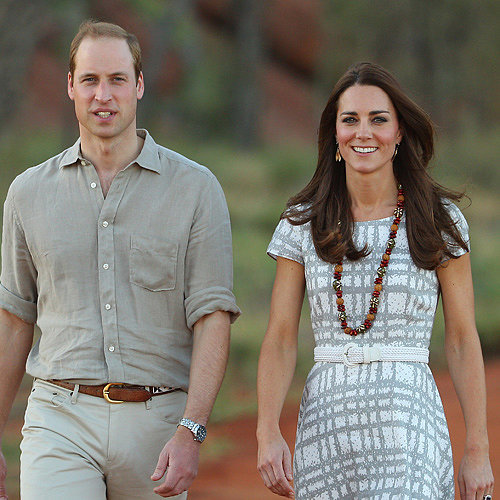 Prince William and Kate Middleton at Ayers Rock