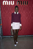 Lupita Nyong'o at the Miu Miu Fall 2014 Runway Show