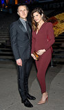 Lake Bell showed off her baby bump with husband Scott Campbell at the Vanity Fair party.