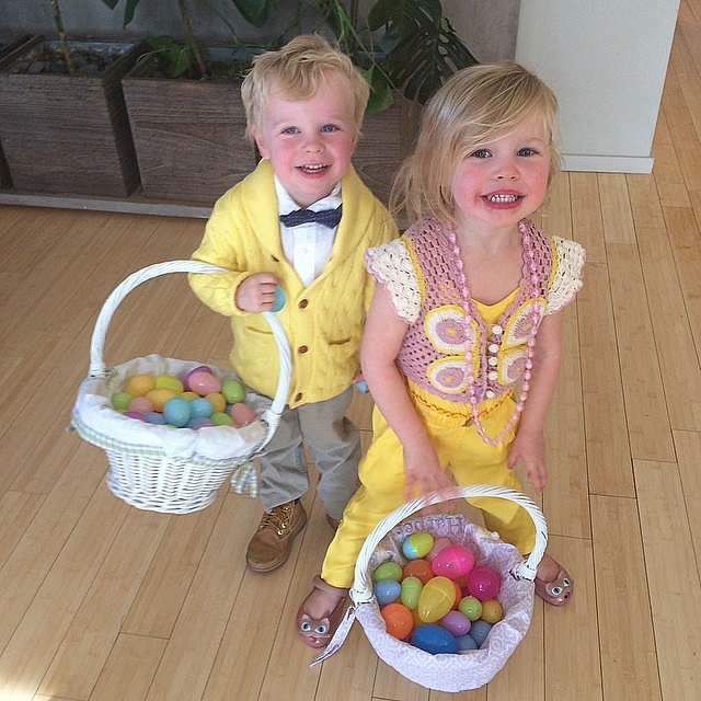 Neil Patrick Harris's twins, Gideon and Harper, look like they had a fun (and egg-filled) Easter. Source: Instagram user instagranph