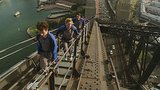 The Dunphy family climbs the Harbour Bridge. Source: Network Ten