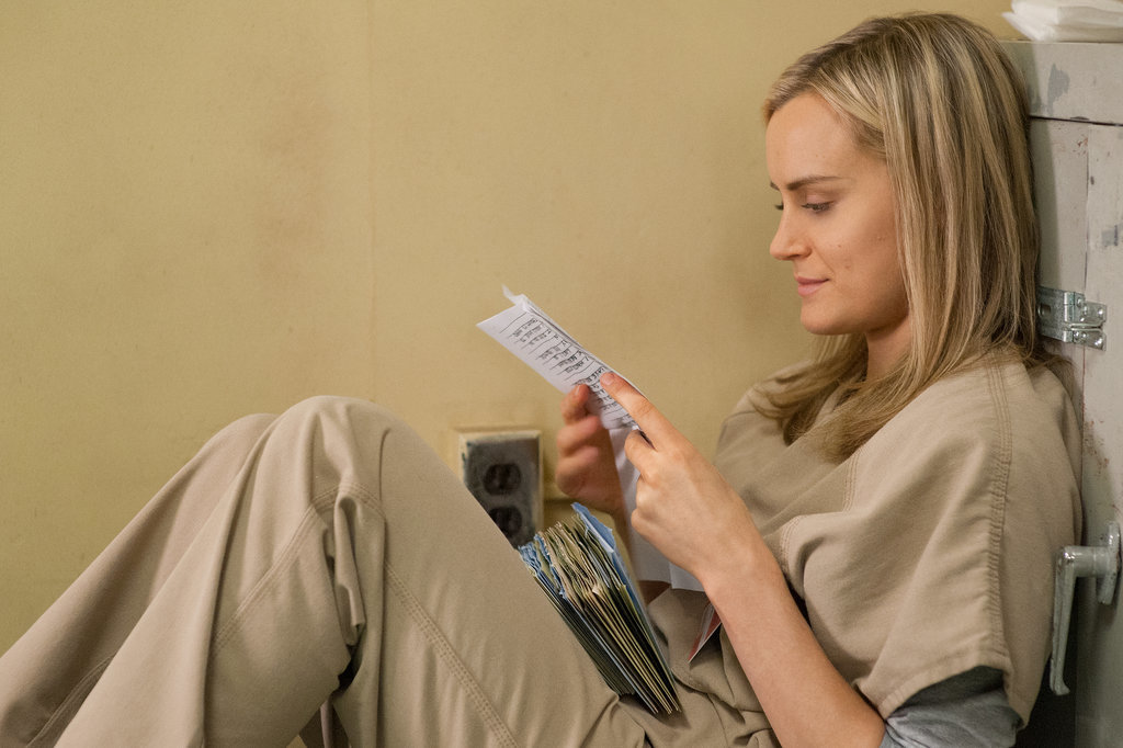 I'm thinking this is when Piper gets all of her mail after leaving SHU. Source: Netflix