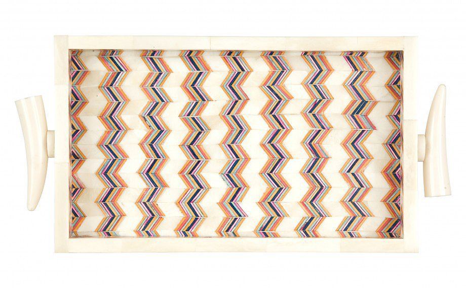 For the mama who has it all, consider giving this chevron tray ($95). It