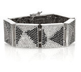 Eddie Borgo Pavé Black and White Pyramid Bracelet