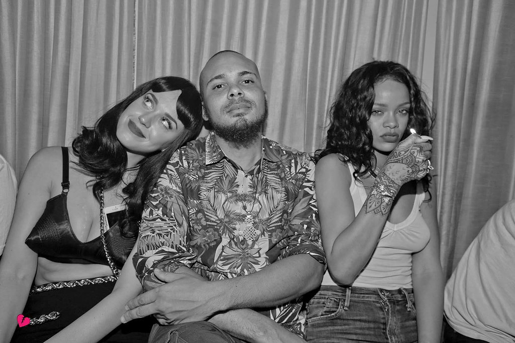 Rihanna and Katy Perry cozied up to Walshy Fire.