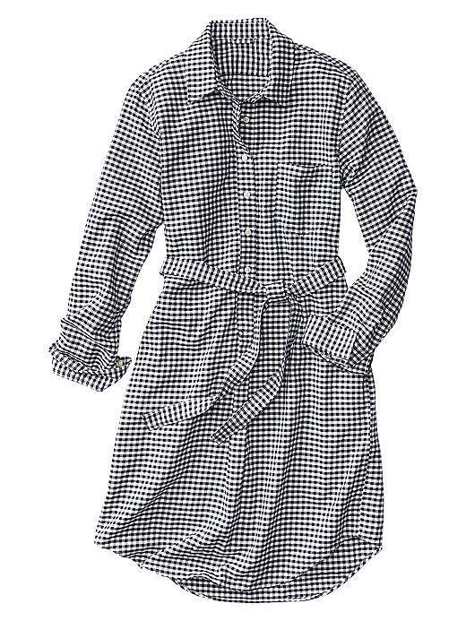 Gap Gingham Oxford Shirtdress