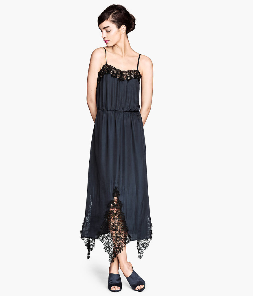 H&M Satin and Lace Dress