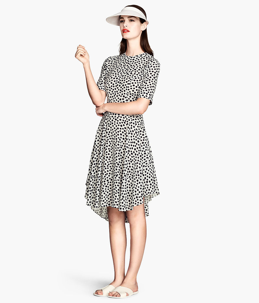 H&M Black and White Polka-Dot Dress