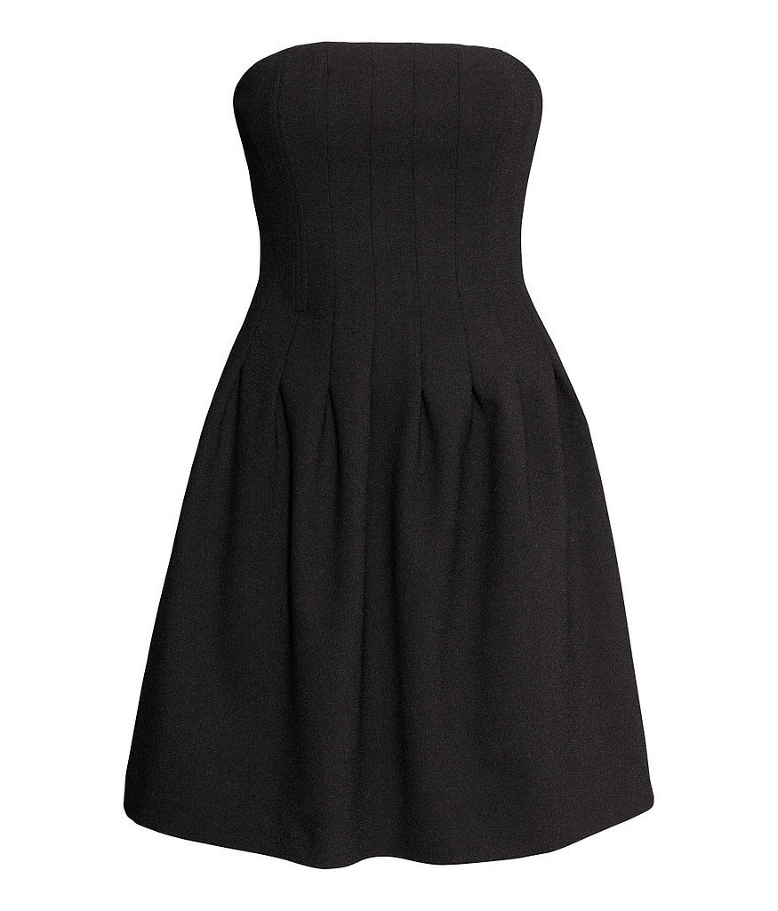 H&M Strapless Crepe Dress
