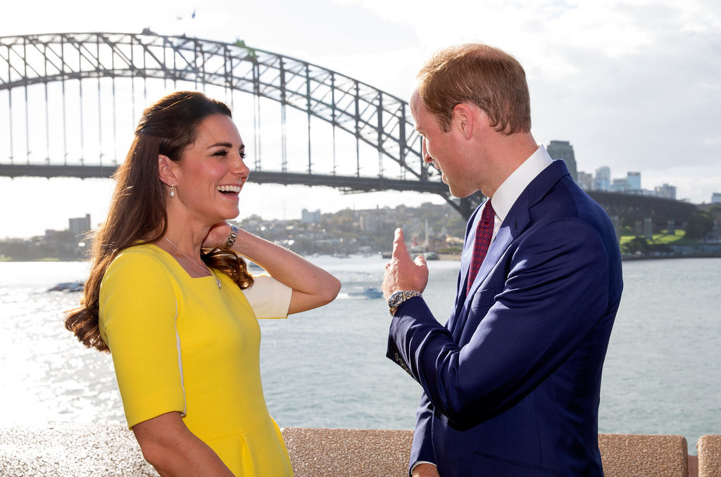 William pointed something out to his wife, Kate, on their 2014 trip to Sydney, Australia.