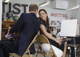 Will and Kate chatted as they sat to create art at LA's Inner City Arts campus in 2011.